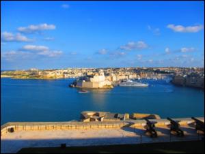 マルタの海岸の町