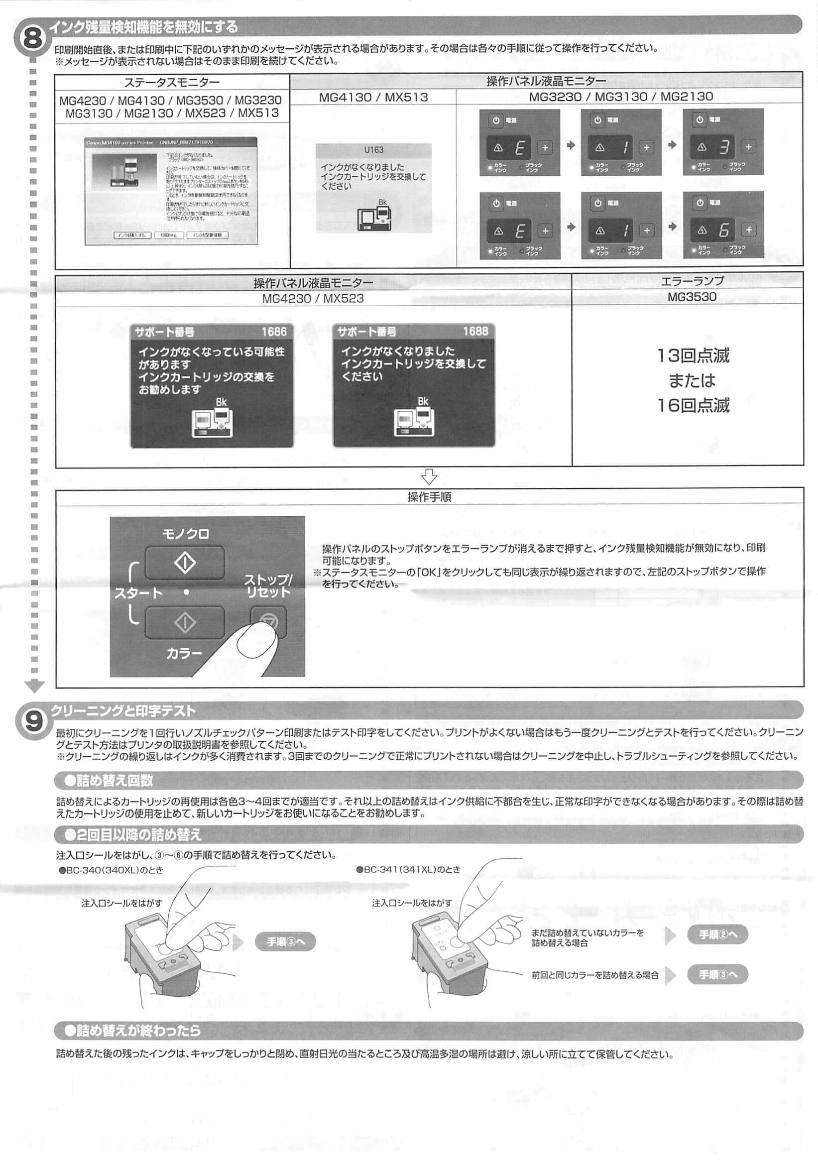 MG3630Ink 注入方法2