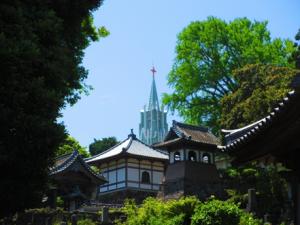 平戸ザビエル記念教会と、光明寺、瑞雲寺