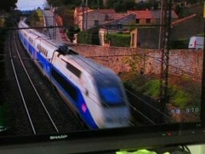 フランスの鉄道(テレビから)