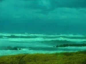 小松付近 : 冬の日本海