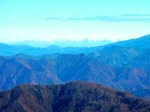 八海山から見た佐渡