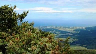 鳥海山から酒田方面を望む