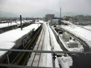 敦賀駅から小浜線の方を望む