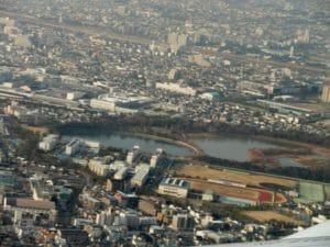 昆陽池(伊丹市)池に日本列島を模した島