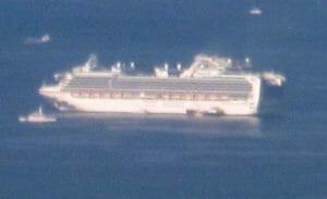 横浜港を漂うクルーズ船ダイヤモンド・プリンセス号