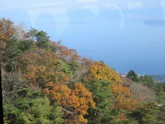 琵琶湖バレーの紅葉  山頂から